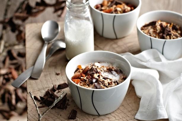 Δυνατό πρωινό με σοκολάτα και ξηρούς καρπούς,Γ.Λέκκας