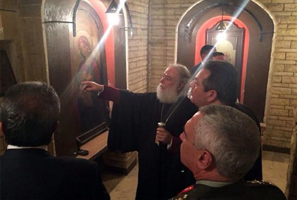 Ο Καμμένος στην Πατριαρχική Μονή Αγίου Γεωργίου Καΐρου (ΕΙΚΟΝΕΣ)