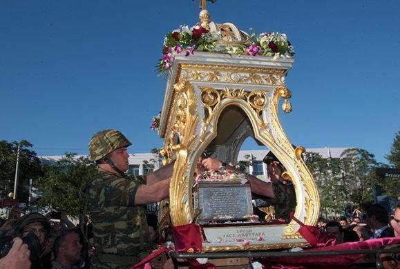 Το ιερό σκήνωμα της Αγ. Βαρβάρας την Τρίτη θα αναχωρήσει για την Βενετία