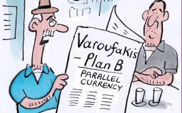Δείτε το σκίτσο του Guardian για το Plan B    Βαρουφάκη
