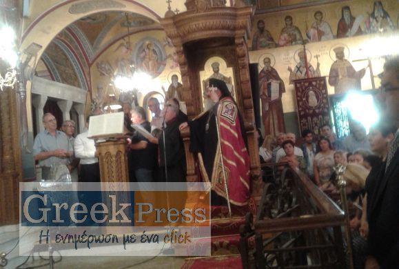 Με δέος και μεγαλοπρέπεια ο Εσπερινός και η Εορτή επί τη αποδώσει της Εορτής της Κοιμήσεως της Θεοτόκου, στην Παναγία Φανερωμένης στη Ν.Μηχανιώνα Θεσσαλονίκης(ΦΩΤΟΡΕΠΟΡΤΑΖ)
