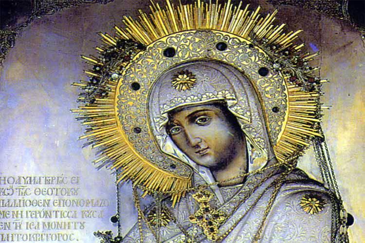 Η Θαυματουργή Εικόνα της Παναγίας της Γερόντισσας από το Άγιον Όρος στην Επανομή Θεσσαλονίκης