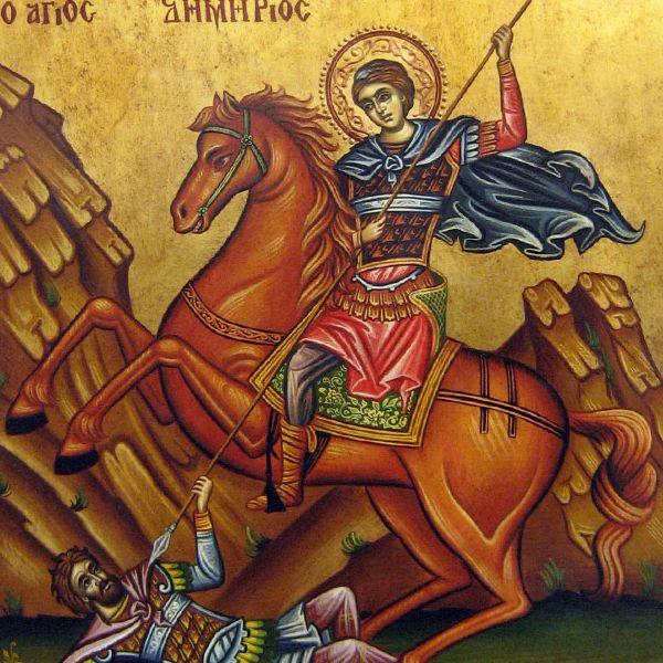 Ποιος είναι ο πολεμοχαρής τσάρος των Βουλγάρων που σκοτώνει ο Άγιος Δημήτριος-εικόνα