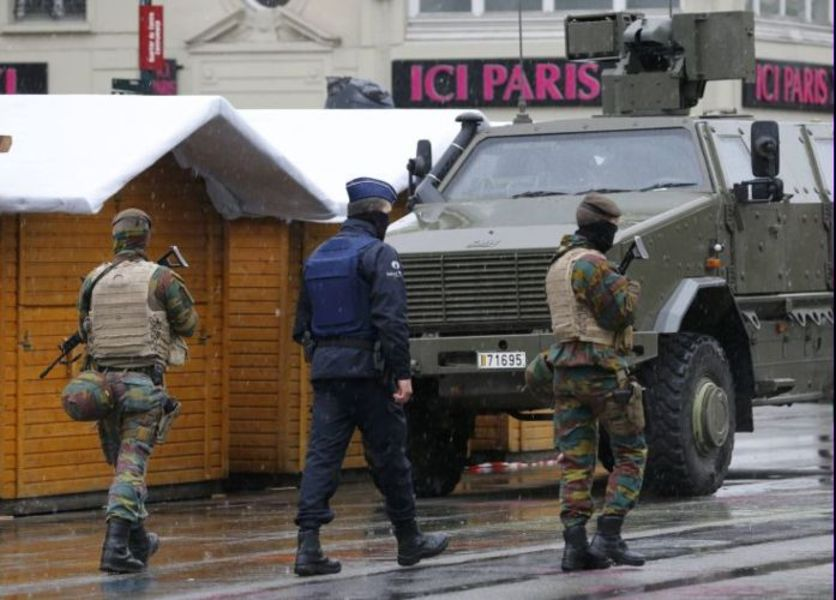 Στρατοκρατούμενες οι Βρυξέλλες, φόβος επιθέσεων, ΕΙΚΟΝΕΣ