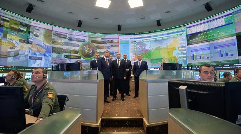 Φωτογραφίες από τον θάλαμο επιχειρήσεων του Πούτιν