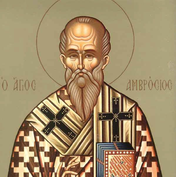 Συναξάρι 7-12, Άγιος Αμβρόσιος επίσκοπος Μεδιολάνων