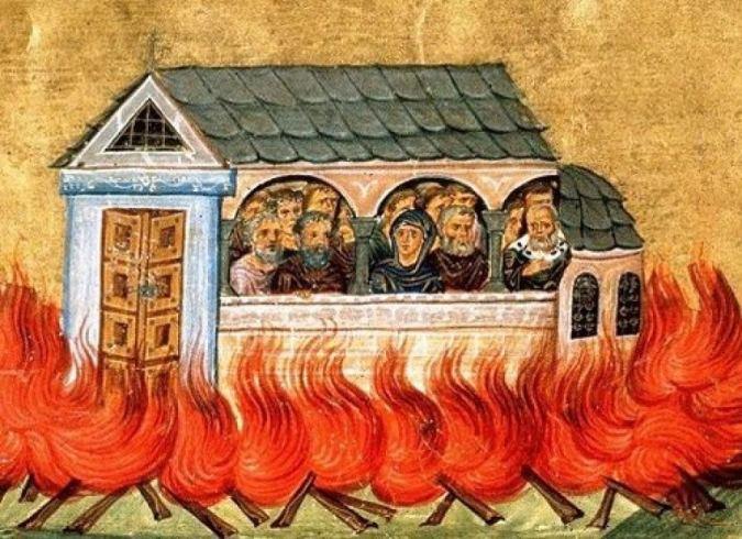Συναξάρι 28 Δεκεμβρίου, Άγιοι Δισμύριοι (20.000) μάρτυρες που κάηκαν στη Νικομήδεια