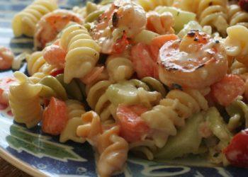 G.Lekkas: Σαλάτα µε μακαρόνια και γαρίδες