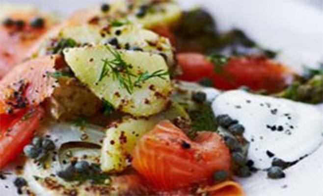 G.Lekkas:  Σαλάτα με σολομό, κάπαρη και πατάτες