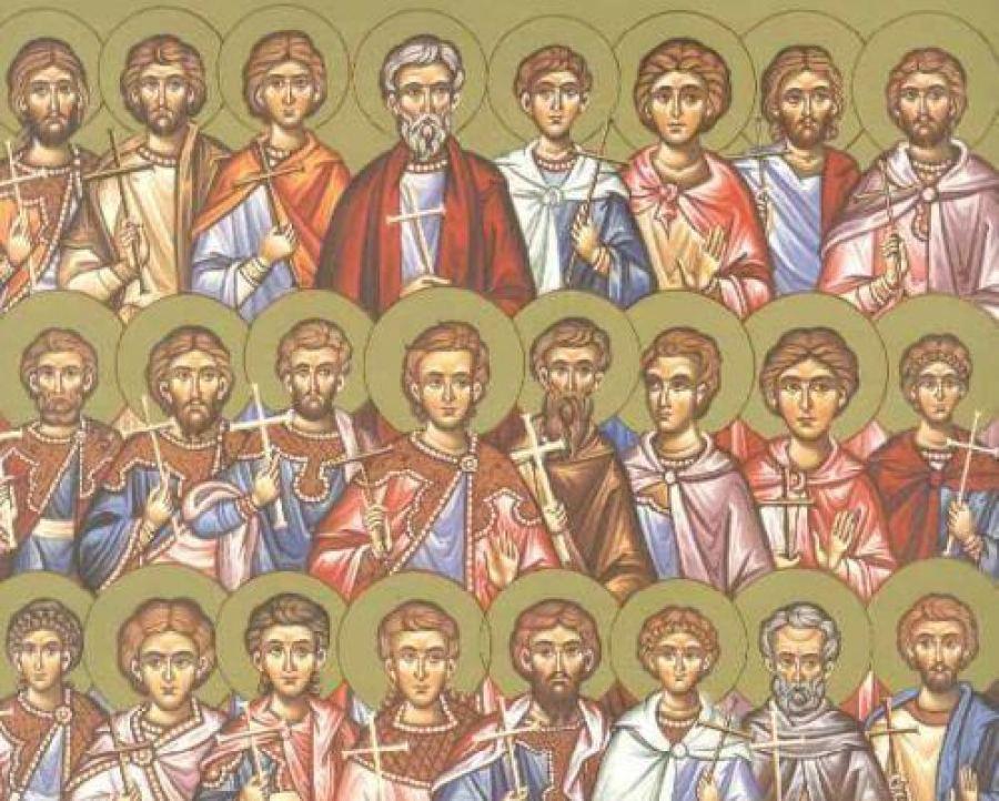 Συναξάρι 6 Μαρτίου, οι  Άγιοι Τεσσαράκοντα δύο Μάρτυρες