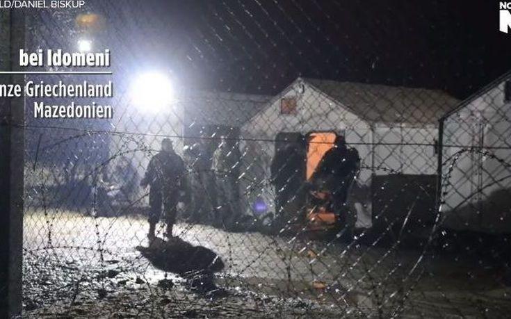 Σκοπιανός συνοριοφύλακας κλωτσά απρόκλητα πρόσφυγα, ΒΙΝΤΕΟ