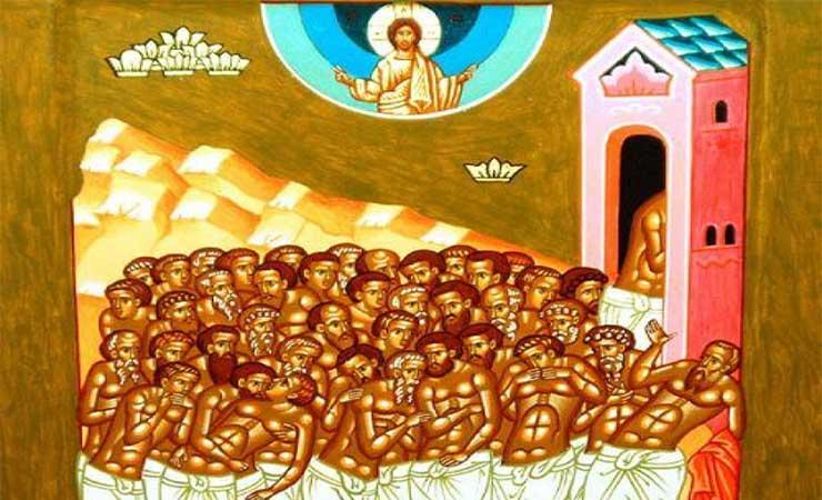 Συναξάρι 9 Μαρτίου, οι Άγιοι Σαράντα Μάρτυρες