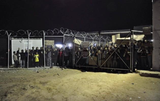 Άγριες συγκρούσεις μεταξύ μεταναστών στο hot spot της Χίου