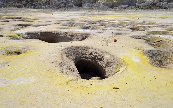 Νίσυρος : Ο εντυπωσιακός κρατήρας «Στέφανος»
