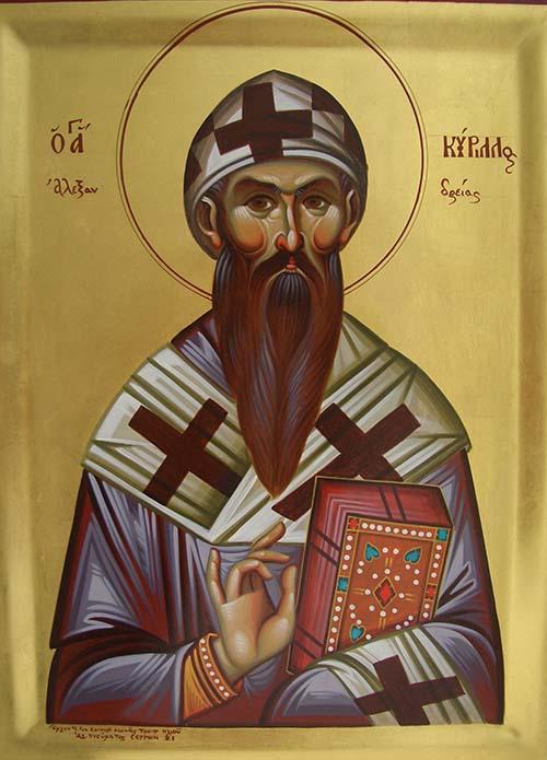 Συναξάρι 9 Ιουνίου, Άγιος Κύριλλος Πατριάρχης Αλεξανδρείας