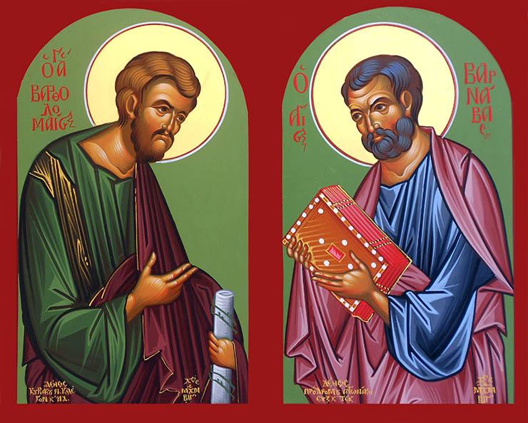 Συναξάρι 11 Ιουνίου, Άγιοι Βαρθολομαίος και Βαρνάβας