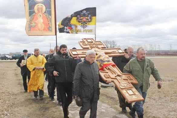 Με Λιτανεία του ΤΙΜΙΟΥ ΣΤΑΥΡΟΥ προσεύχονται να σταματήσει ο πόλεμος στην Αν. Ουκρανία
