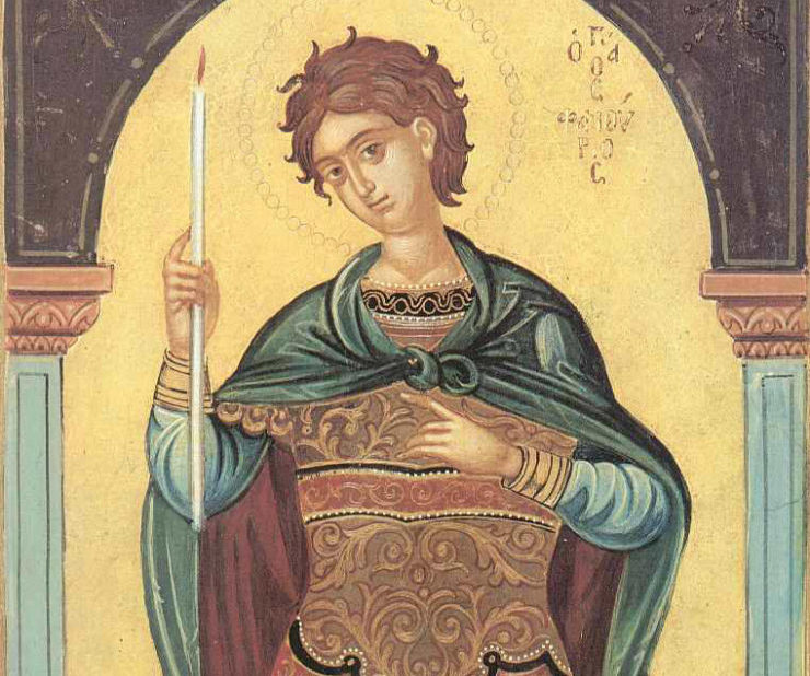 Συναξάρι 27 Αυγούστου, Άγιος Φανούριος ο Νεοφανής, ο Μεγαλομάρτυρας
