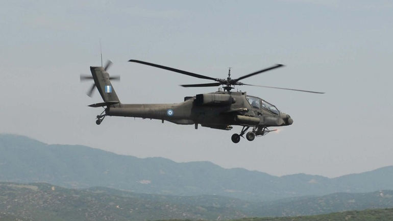Ελικόπτερο Απάτσι κατέπεσε στη Β. Ελλάδα