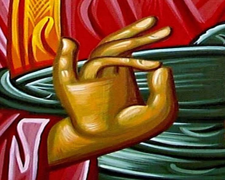 Τί συμβολίζει το χέρι του Ιερέα που ευλογεί;