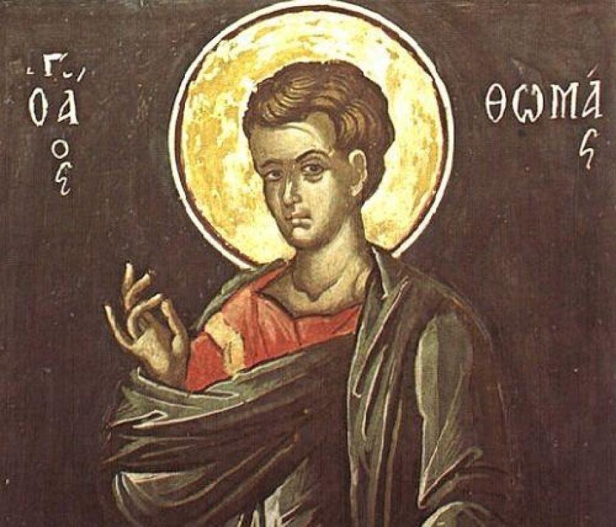 Συναξάρι 6 Οκτωβρίου, Αγίου Θωμά του Αποστόλου