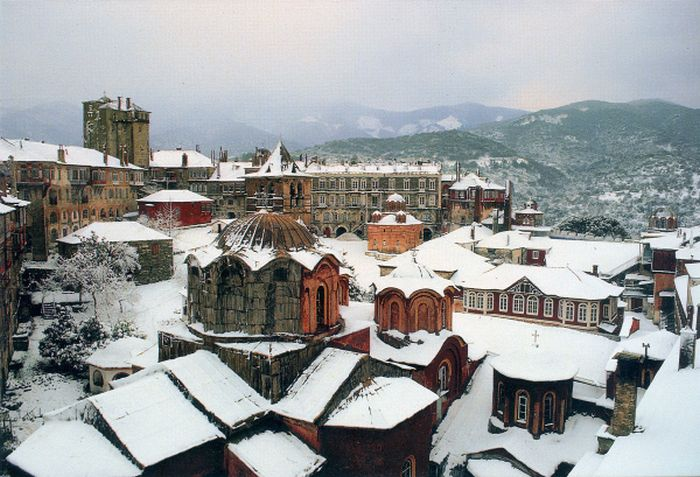 Χριστούγεννα στο Άγιον Όρος