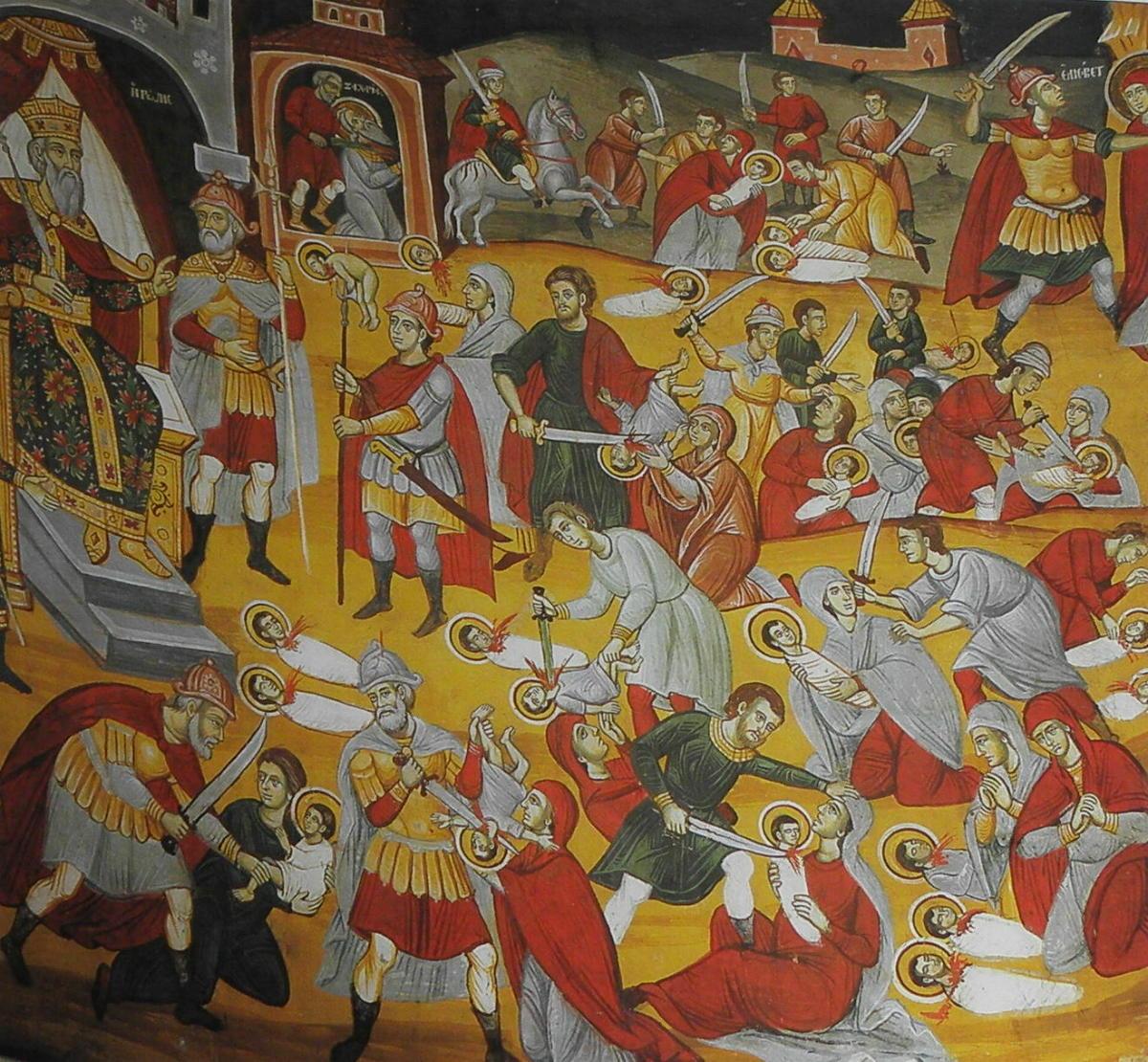 Συναξάρι 29 Δεκεμβρίου, Σφαγιασθέντων Νηπίων με διαταγή του Ηρώδη