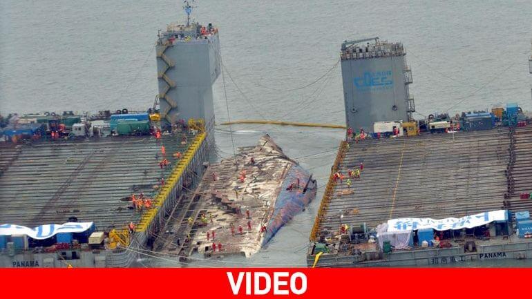 Νότιο Κορέα – Η ανέλκυση του ναυαγίου του Sewol (απίστευτες εικόνες-video)