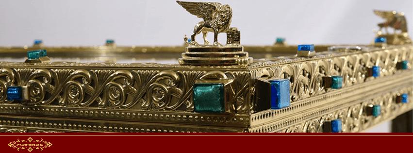 Oλοκλήρωση της ανάθεσης και χειροποίητης κατασκευής της λάρνακας που θα τοποθετηθεί το ιερό σκήνωμα της Αγίας Ισαποστόλου Ελένης