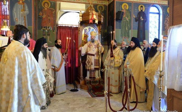 Με λαμπρότητα εορτάσθη η μνήμη της Αγίας ενδόξου Μεγαλομάρτυρος Ειρήνης στον ομώνυμο Ιερό Ναό στον Ριγανόκαμπο Πατρών