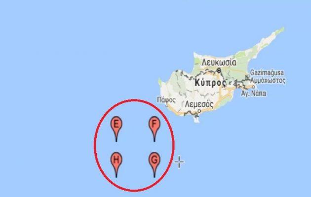 Ο Ερντογάν στέλνει πολεμικά πλοία στην ΑΟΖ νότια της Κύπρου στις 28 Ιουνίου