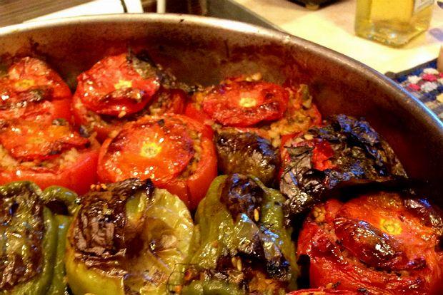 Αγιορείτικες πιπεριές γεμιστές