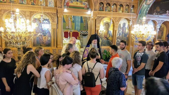 Στον Ιερό Μητροπολιτικό Ναό Αγίου Δημητρίου Ναυπάκτου τελέσθηκε θεία Λειτουργία για τους διαγωνιζομένους στις Πανελλαδικές εξετάσεις.