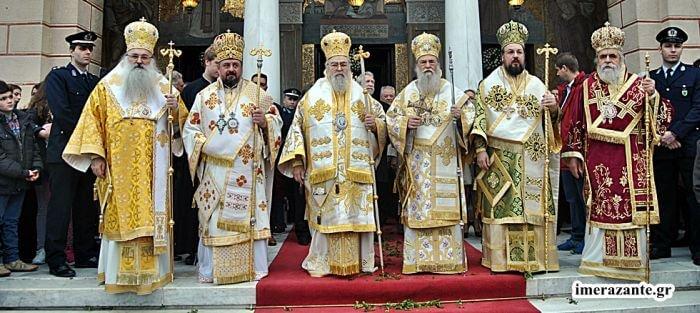 Χιλιάδες λαού στον λαμπρό εορτασμό για τον Αγιο Διονύσιο