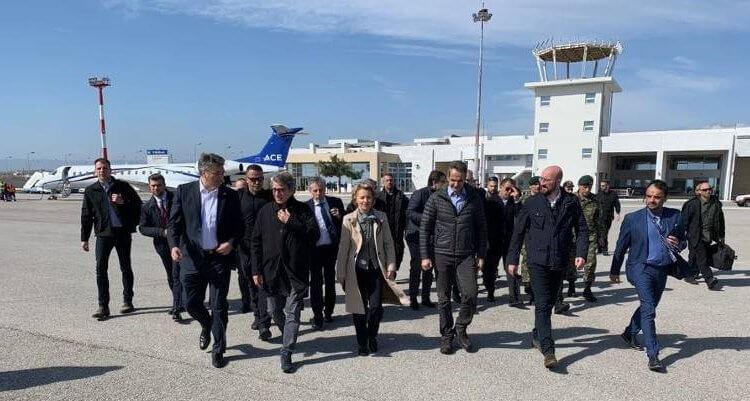 ΕΒΡΟΣ:Την ηγεσία της ΕΕ υποδέχθηκε ο Κυριάκος Μητσοτάκης