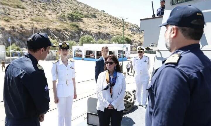 Στο Καστελόριζο η πρόεδρος της Δημοκρατίας Κατερίνα Σακελλαροπούλου,