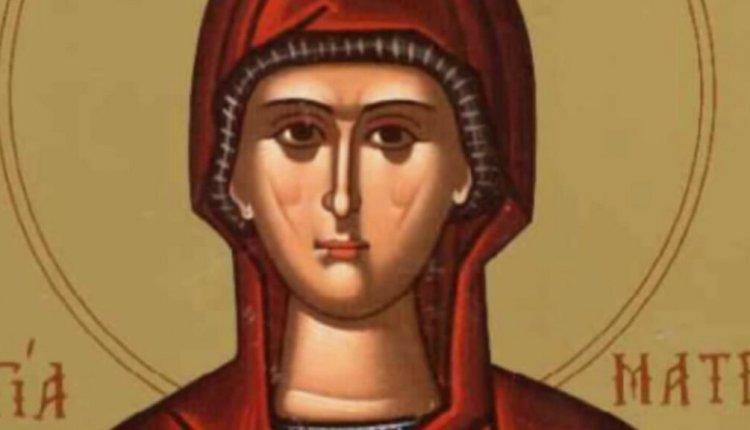 Συναξάρι 27-3,Ματρώνης της εν Θεσσαλονίκη