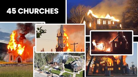 ΚΑΝΑΔΑΣ: Τουλάχιστον 45 εκκλησίες έχουν πυρποληθεί με τις αντιχριστιανικές επιθέσεις