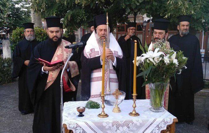 Καρδίτσα: Αγιασμός για το έργο συντήρησης στον Άγιο Γεώργιο